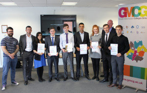 Trafford College 'Altrincham Originals' winning Enterprise Team